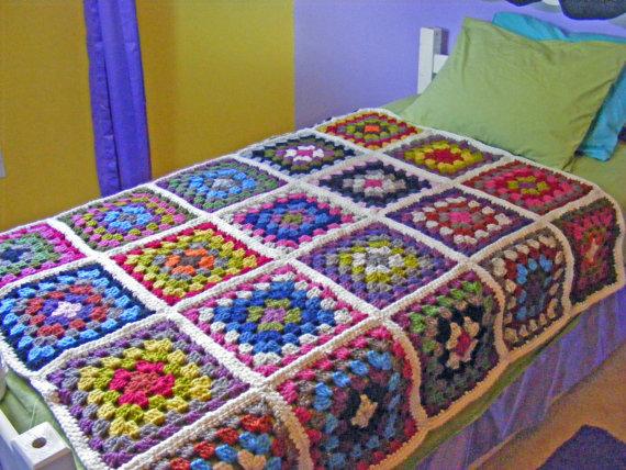 Crochet Blanket Living Rm